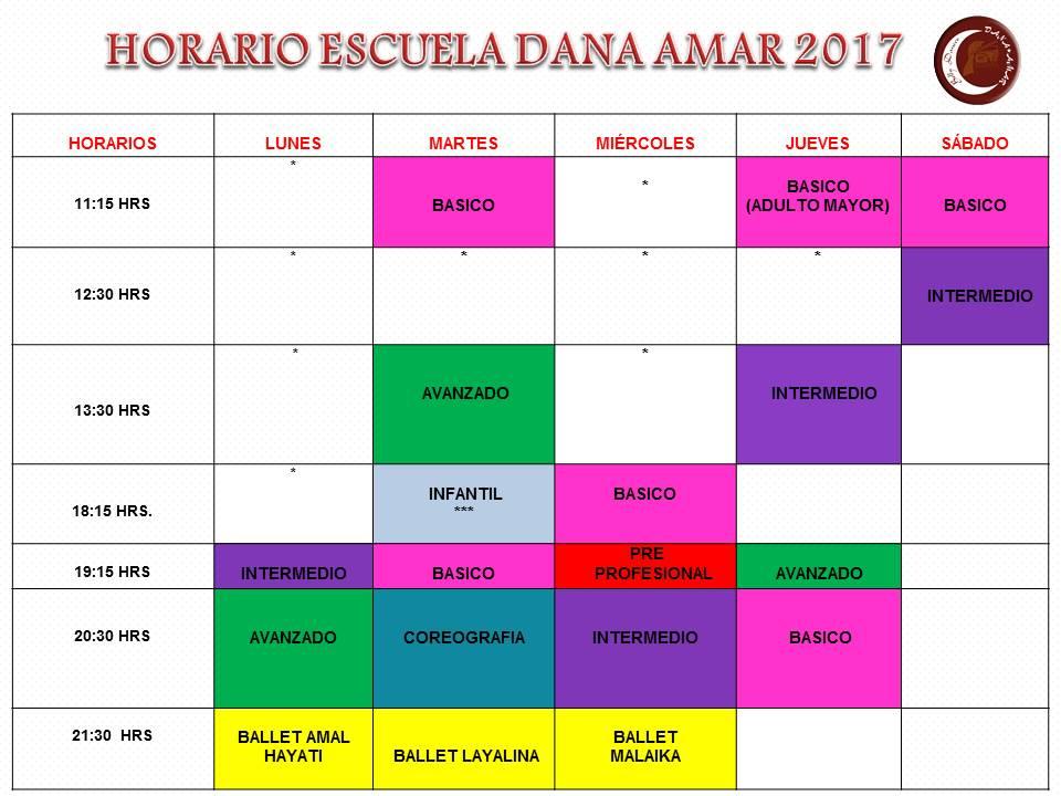 HORARIOS 2017