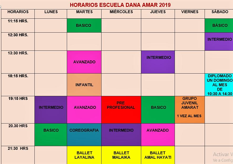 horario 2019 DEFINITIVO