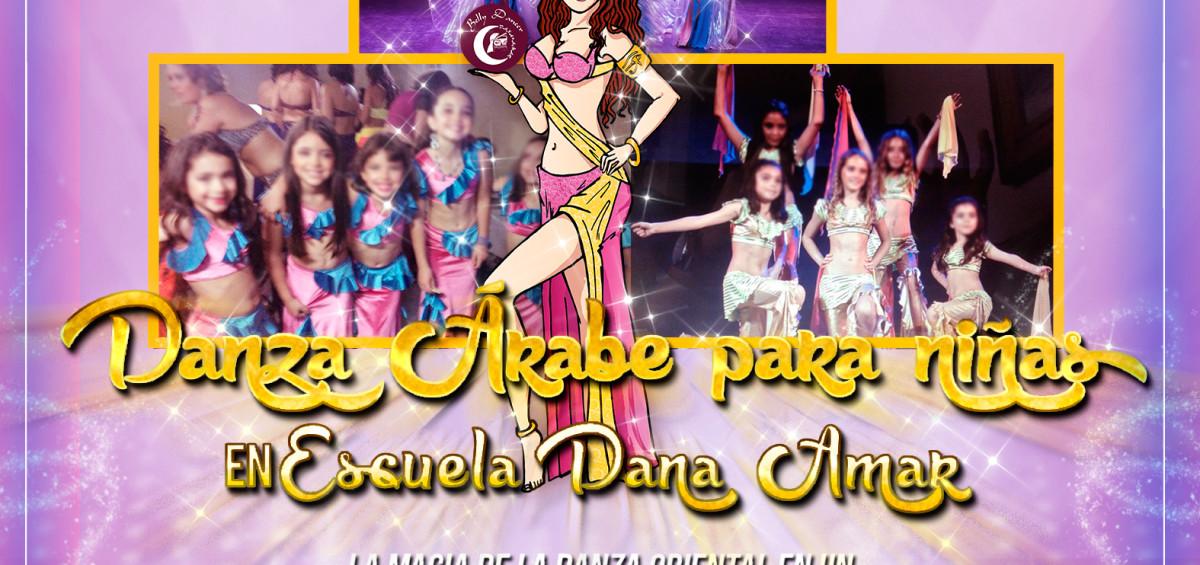 Afiche Danza Árabe para Niñas Escuela Dana Amar